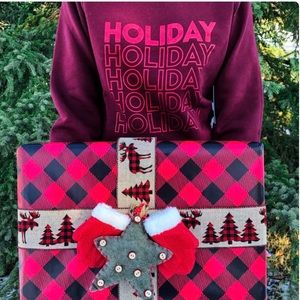 Brunette the Label Holiday Cozy Sweatshirt GUC